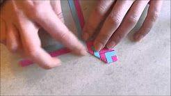 tuto marque page origami - YouTube