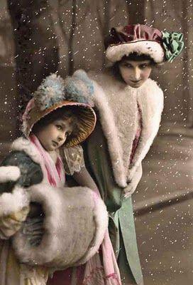 vintage winter postcards | My Vintage Studio: Winter Images ~ Cabinet Cards