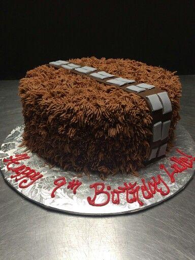 Chewbacca  star wars cake                                                                                                                                                     More