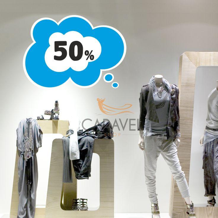Αυτοκόλλητα εκπτώσεων Σύννεφο 50%