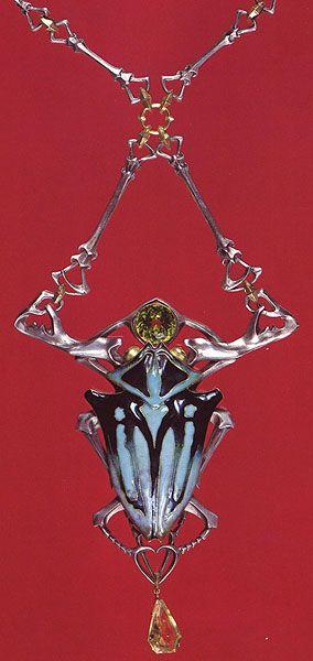 Lucien Gaillard. Изысканное ювелирное искусство. » Наслаждение творчеством Art Nouveau pendant