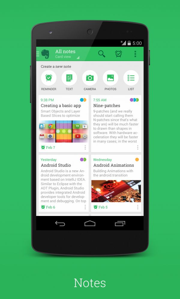 [International Android UI Design Community] New Evernote by 30PP0 (signa.li/s/99)