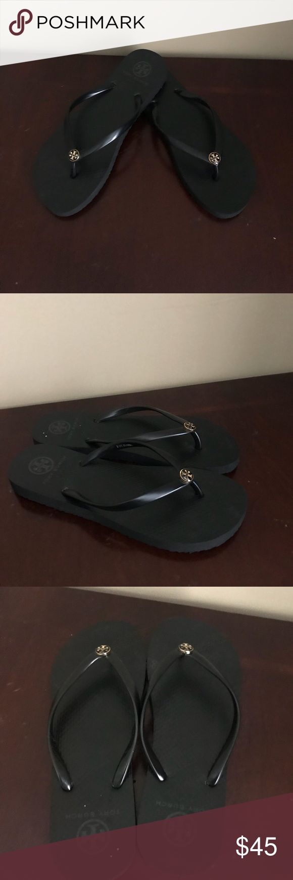 Tory Burch flip flop Tory Burch flip flop brand new with out box no tag no trade A signature logo discreetly brands a cute, casual flip-flop. Tory Burch Shoes Sandals