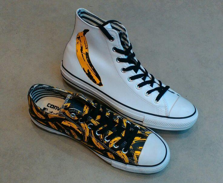 Converse x Andy Warhol 'Banana' Leather Hi/Ox  #converse #chucktaylor #allstar #andywarhol