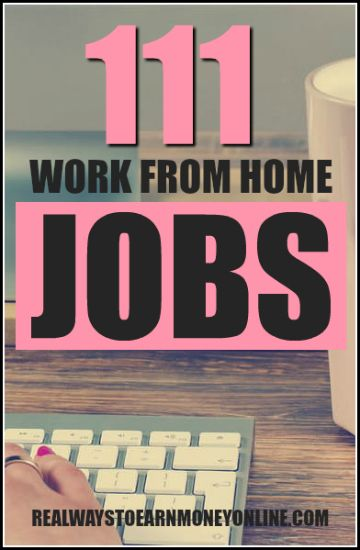 The mega-list of 111 legitimate work from home jobs. Start applying today to find your dream job! via @RealWaystoEarn