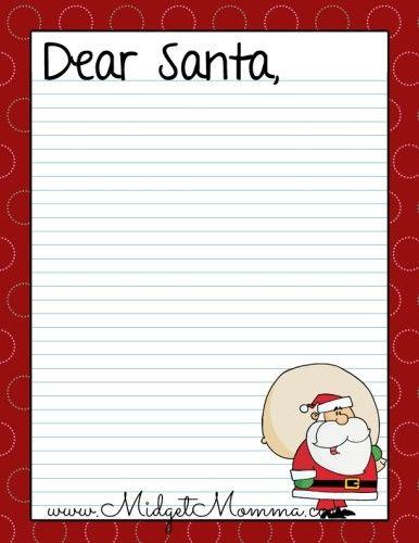 stationery free, black free, on dear santa letter template printable kindergarten