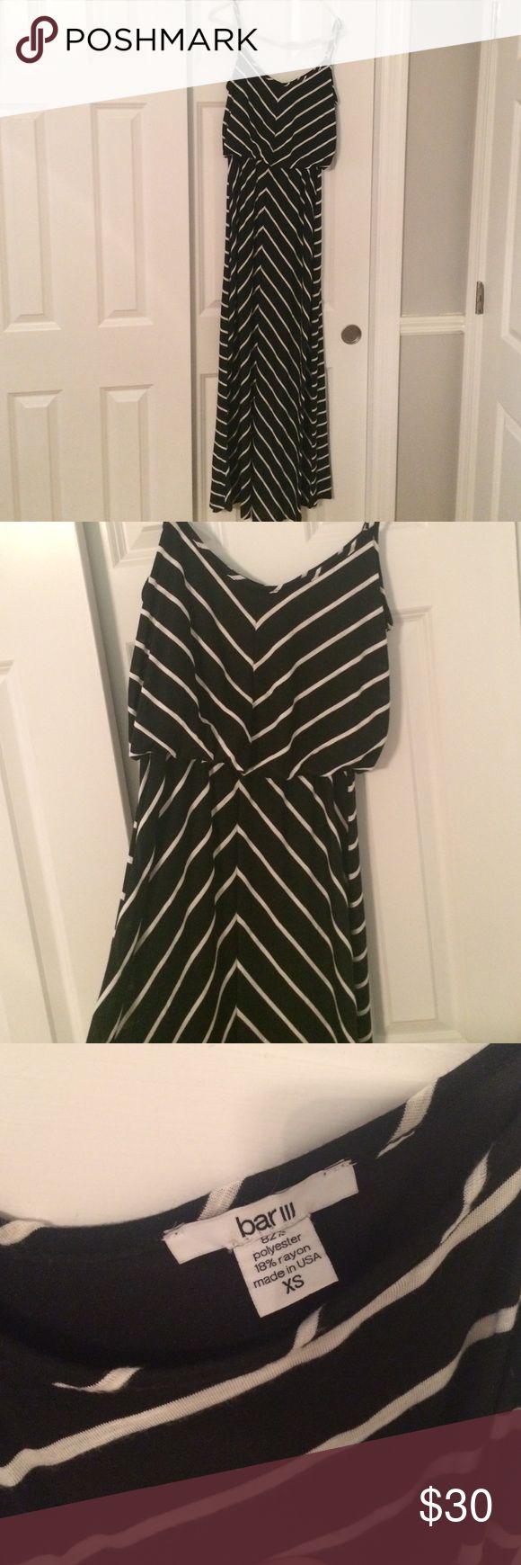 striped maxi dress worn once! Bar III Dresses Maxi