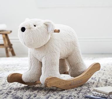 Polar Bear Fur Plush Rocker #pbkids