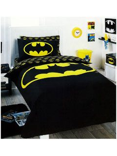batman bedding quilt cover set single black logo superhero dc comic boys kids