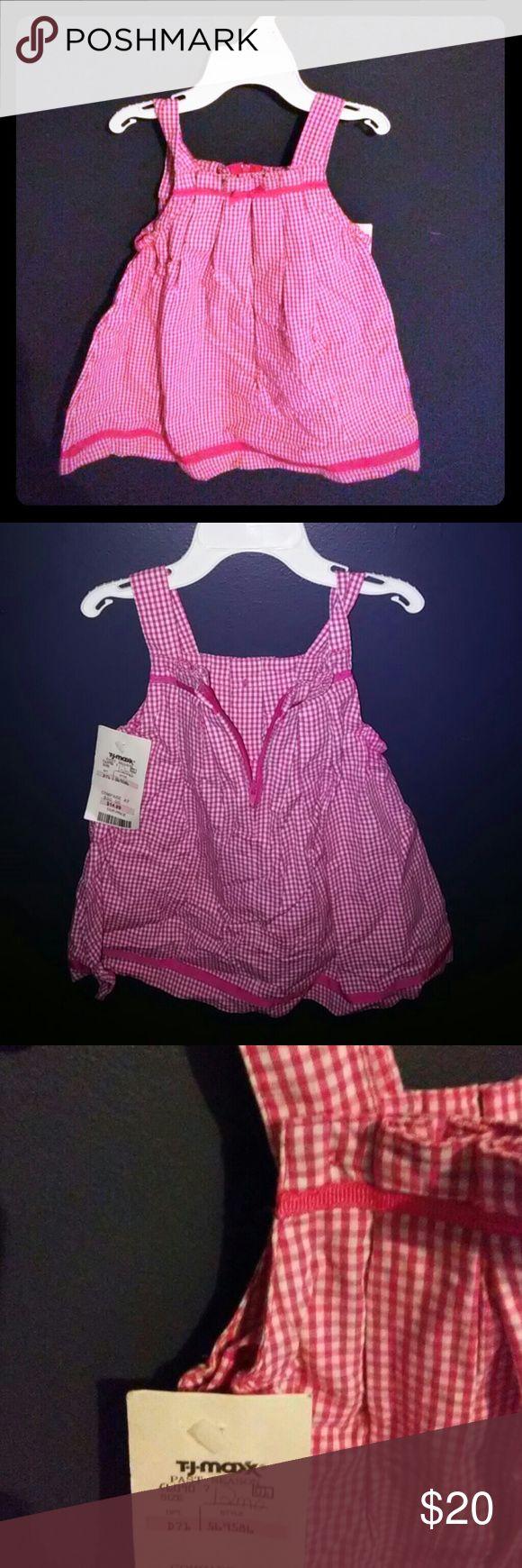 💘BOGO SALE! Liz Claiborne toddler sundress Pink and white checkered. Liz Claiborne Dresses Formal