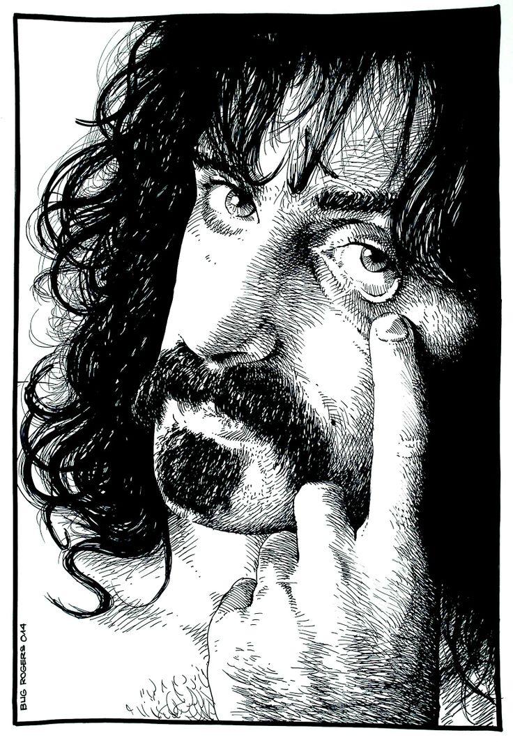 Frank Zappa portrait by EnricBug