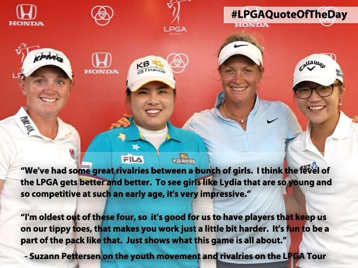 The big 4 in the LPGA :  Stacey Lewis, Inbee Park, Suzann Pettersen, & Lydia Ko