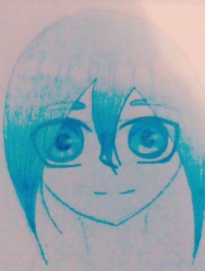I love animes soooooo i made a anime girl i made her blue bc i love this colore sorry that it not that good but i never draw anime