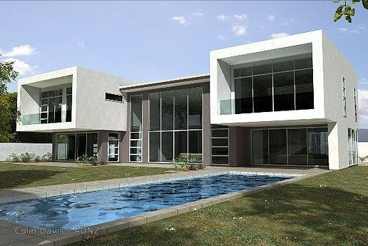 House designed by Colin Davis.  #ADNZ #pool #outdoors