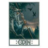 Odin fra Valhalla - signeret og nummereret kunsttryk - Peter Madsen