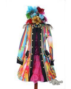 Carnavalsjas dame Color pearl Rainbow