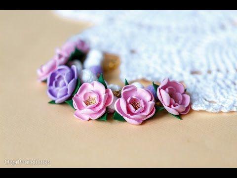 Polymer clay flowers by Olga | Делаем нежный браслет из полимерной глины - Все о полимерной глине