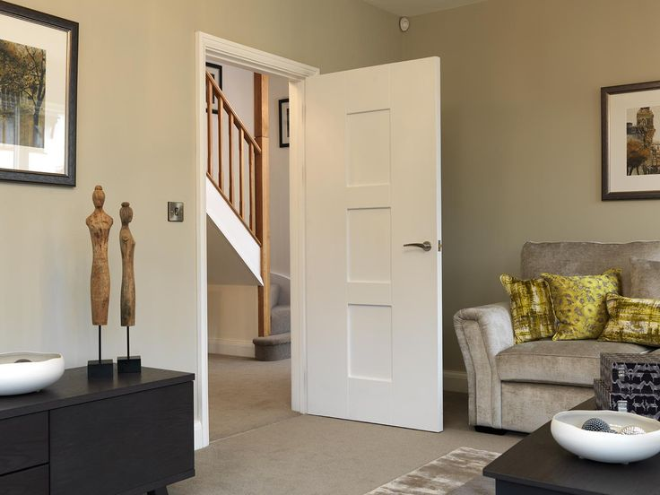 Add A Contemporary Touch To Your Home With A Wide Shaker Panel Style Interior  Door.
