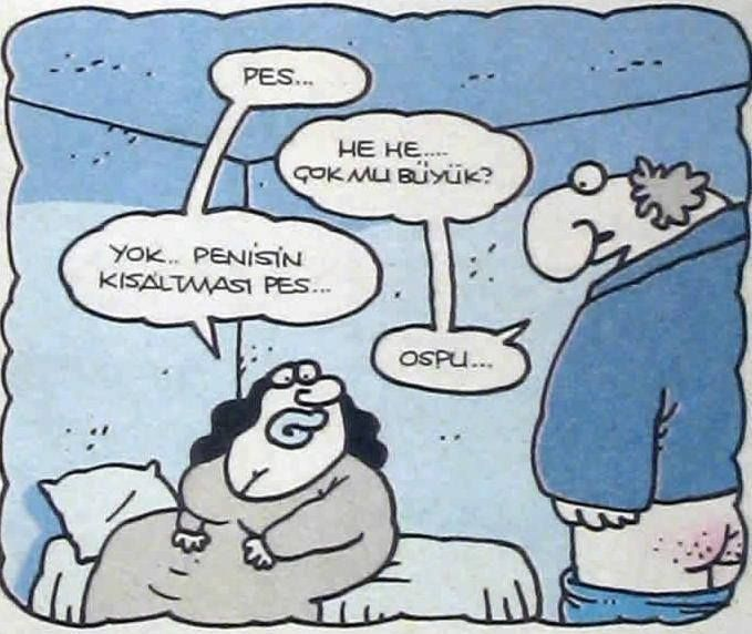 Pes ve Ospu kısaltmaları, karikatür