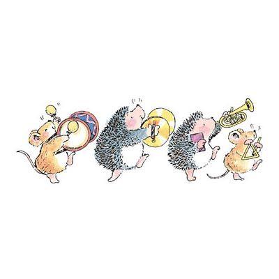 Открытки с ежами и мышами
