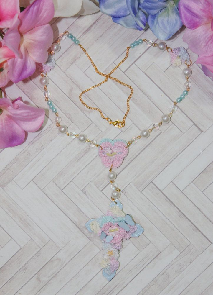 Bouquet Cross n.001 by BlueberrySodaShop on Etsy