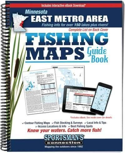 Minnesota East Metro & East Central Minnesota Fishing Maps Guide Book