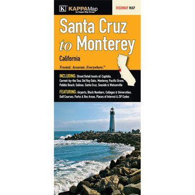 Universal Map Santa Cruz to Monterey Map (Set of 2)