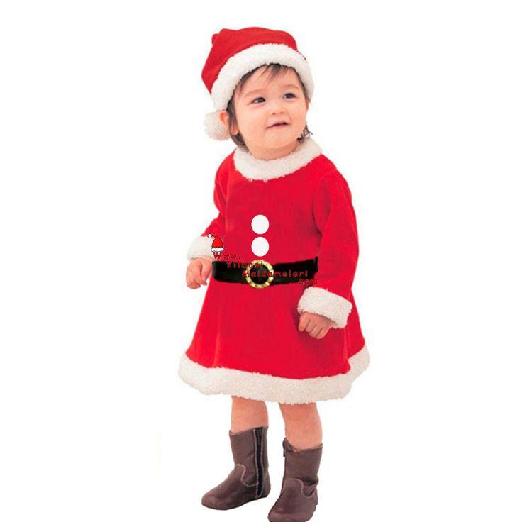 Kız Bebek Noel Baba Kostümü 0-3 Aylık