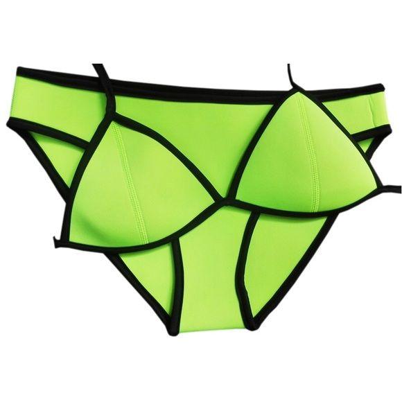 THE JULIE NEON GREEN BIKINI SET NO TRADE PRICE FAIRLY FIRM UNLESS BUNDLED Boutique Swim Bikinis
