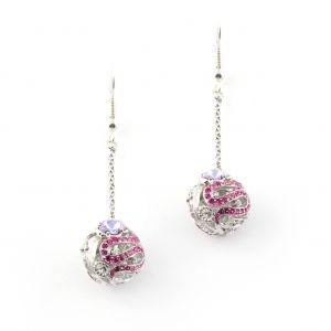 Botanical Floral Ball Earring