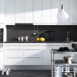 zwarte wandtegels keuken - Google zoeken