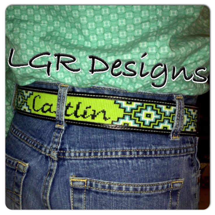 LGR Designs custom hand beaded belt! Like us on Facebook for custom bracelets, belts, dog collars, hatbands, headbands, key chains, hats, and more! Leatherwork by Bar U Custom Leather.
