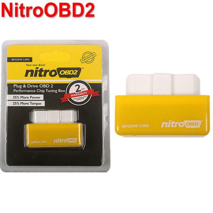 2016 Hot Sale OBD2 Chip Tuning Box NitroOBD2 Untuk Kotak Plug dan Drive Nitro Bensin Mobil Chip Tuning OBD2