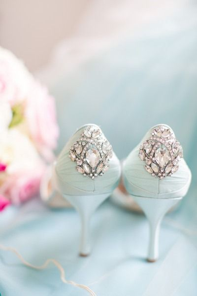 Chic Summer Country Club Wedding Light Blue Shoes