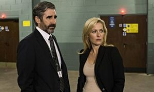 Jim Burns (John Lynch) with DSI Stella Gibson (Gillian Anderson) in The Fall.