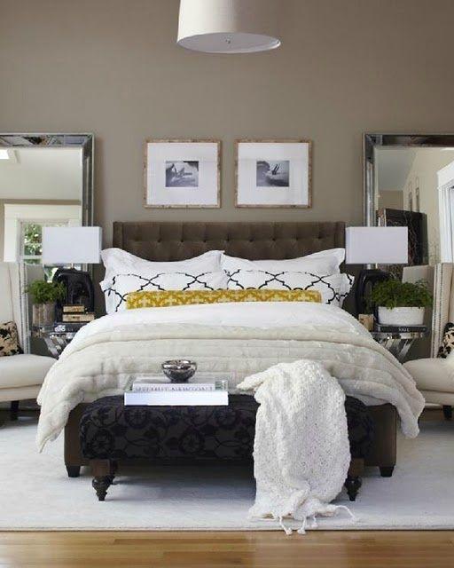 Taupe And Blue Bedroom Bedroom Makeover Minimalist Bedroom Blue Bedroom Side Tables: Best 25+ Mirror Behind Nightstand Ideas On Pinterest
