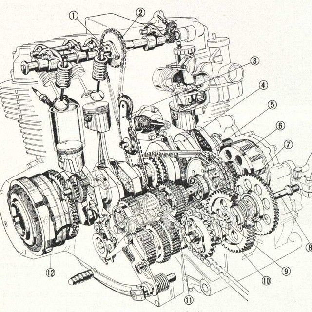 Honda Motorcycle With Fit Engine: 109 Best Images About Engines And Cutaway On Pinterest