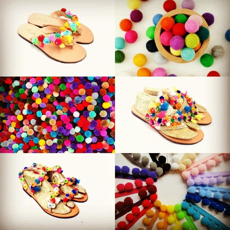 Pompoms are everywhere!! Which one is your style....?? Big or small pompoms, sparkling strass, sandal or flip-flop, all the Summer colors at Casino and Casino Mini model!! New Summer Collection 2016! Available now at stores! #bonbonsandals #pompoms #boho #multicolor #strass #newcollection #summer2016