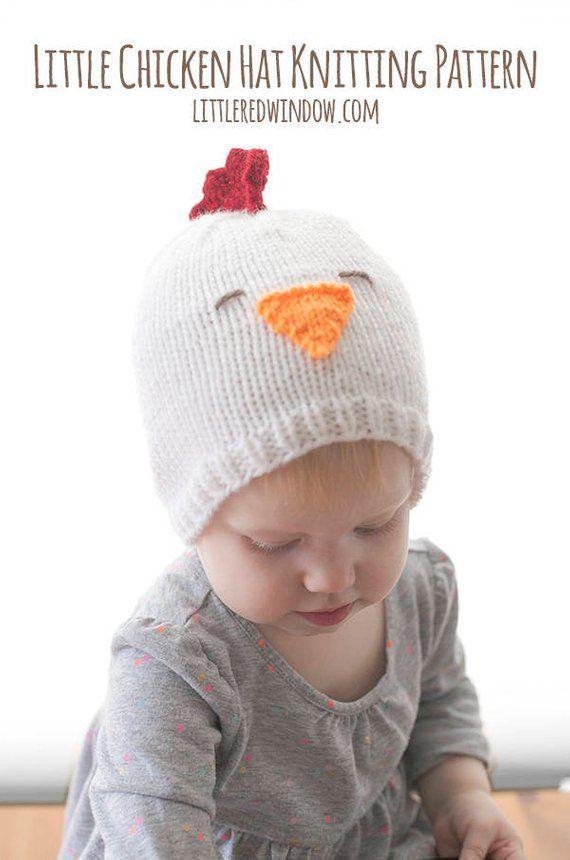 Baby Chicken Hat Knitting Pattern Knitted Chicken Chicken