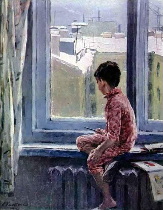 Костенко Е. Зимнее утро 1964 г.