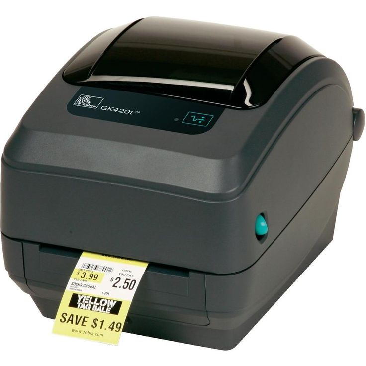 #ZEBRA GK420T Thermal Transfer Label Printer at wish a pos