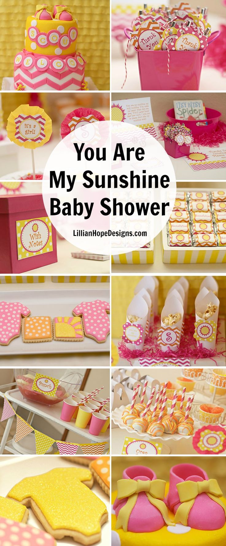 You Are My Sunshine Party   Sunshine Baby Shower   Sunshine Party Printables