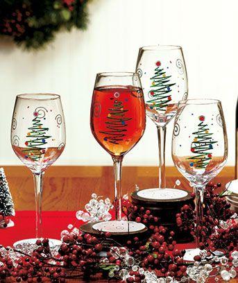 Best 25 Christmas glasses ideas on Pinterest  Christmas wine