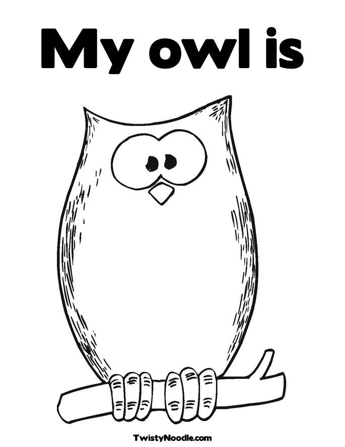 Halloween Owl Coloring Page | Counseling | Pinterest