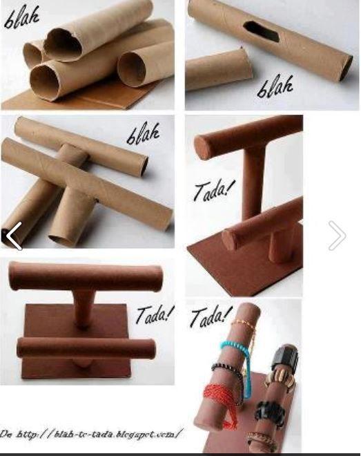 Standaard maken voor armbanden van WD-/keukenrollen