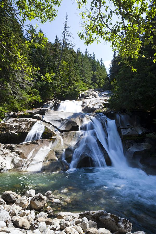 Clayton Falls in Bella Coola, British Columbia_ Canada