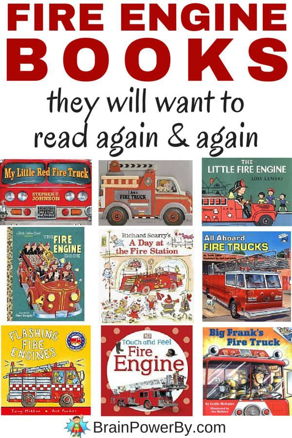 The very best fire engine books that your child will want to read again and again. Includes toy books, board books and picture books. Get them learning about fire engines. #bestbooksforkids #firefighter #fireengines #booklist