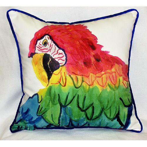 Parrot Head 18x18 Outdoor Pillow Beach Decor Coastal Decor Nautical Decor Tropical