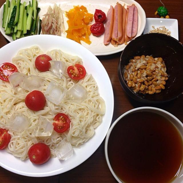こんばんは。  冷麦です。 - 6件のもぐもぐ - 晩ご飯 by teng1919
