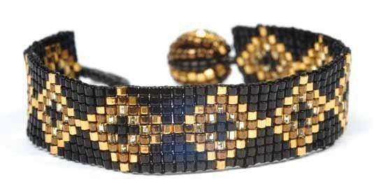 Easy bead loomed bracelet, as seen in Bead magazine and on Bead.TV